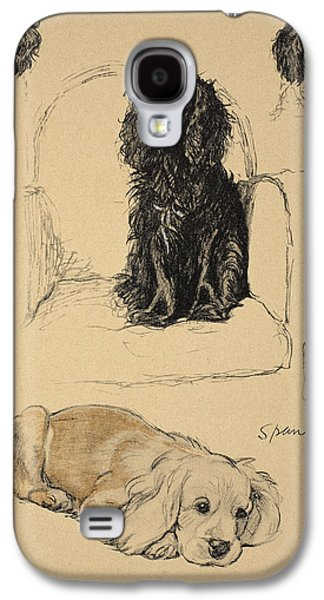 Spaniels, 1930, Illustrations Galaxy S4 Case by Cecil Charles Windsor Aldin