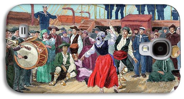 Spanish Emigrants On Board A Ship Galaxy S4 Case by Prisma Archivo