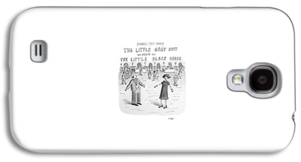 Sparks Fly When The Little Gray Suit Meets Galaxy S4 Case by Roz Chast