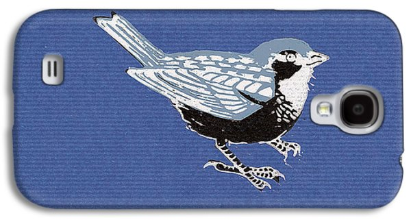 Sparrow, 2013 Woodcut Galaxy S4 Case by Nat Morley