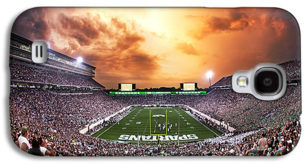 Michigan State Galaxy S4 Case - Spartan Stadium by Rey Del Rio