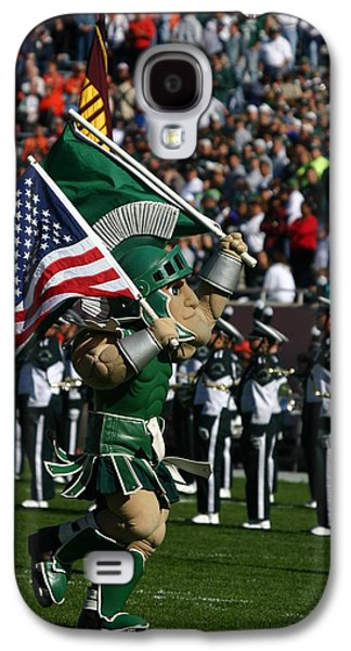 Michigan State Galaxy S4 Case - Sparty At Football Game by John McGraw