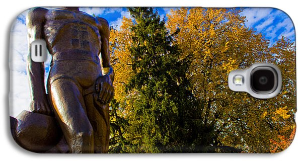 Michigan State Galaxy S4 Case - Sparty From Below In Autumn by John McGraw