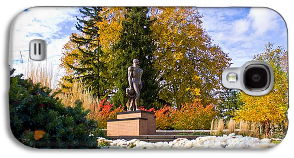 Michigan State Galaxy S4 Case - Sparty In Autumn  by John McGraw