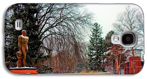 Michigan State Galaxy S4 Case - Sparty In Winter  by John McGraw
