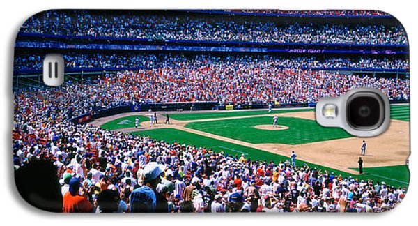 New York Mets Galaxy S4 Case - Spectators In A Baseball Stadium, Shea by Panoramic Images
