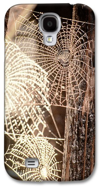 Spider Webs Galaxy S4 Case by Anonymous