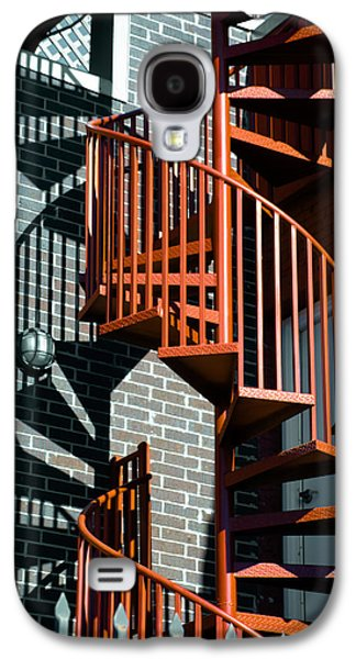 Spiral Stairs - Color Galaxy S4 Case by Darryl Dalton