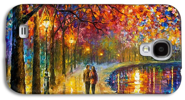Spirits By The Lake - Palette Knife Oil Painting On Canvas By Leonid Afremov Galaxy S4 Case by Leonid Afremov