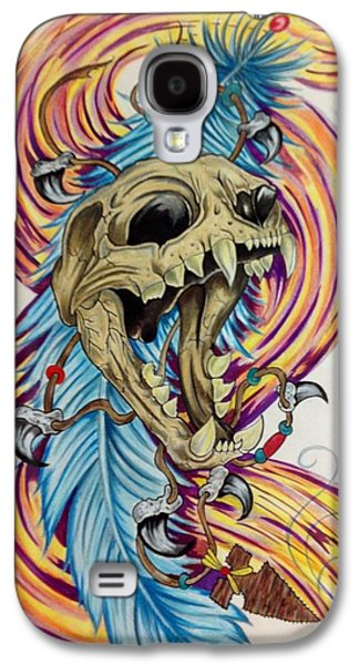 Spirt Of The Cat Galaxy S4 Case by Jared Scott