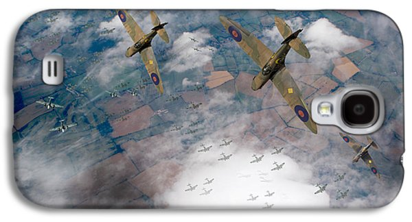 Raf Spitfires Swoop On Heinkels In Battle Of Britain Galaxy S4 Case