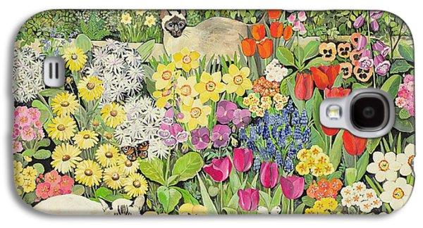 Spring Cats Galaxy S4 Case by Hilary Jones