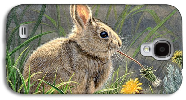 Rabbit Galaxy S4 Case - Spring Cottontail by Paul Krapf