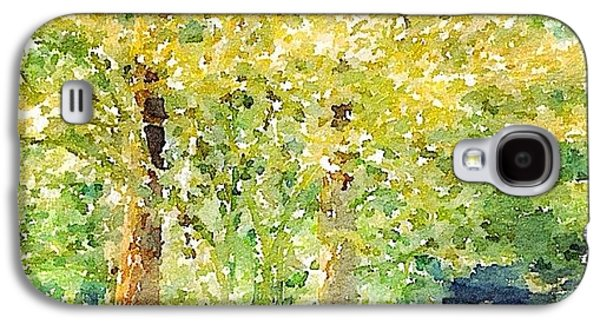 Sunny Galaxy S4 Case - Spring Maples by Anna Porter