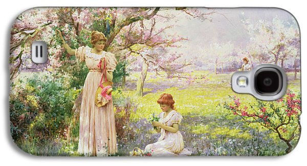 Spring   Picking Flowers Galaxy S4 Case by Alfred Augustus I Glendenning