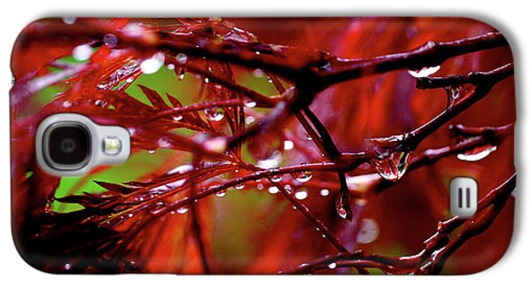 Spring Rain Galaxy S4 Case by Rona Black