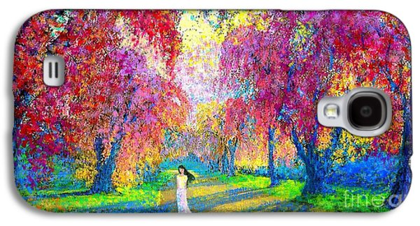 Spring Rhapsody, Happiness And Cherry Blossom Trees Galaxy S4 Case