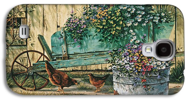 Chicken Galaxy S4 Case - Spring Social by Michael Humphries
