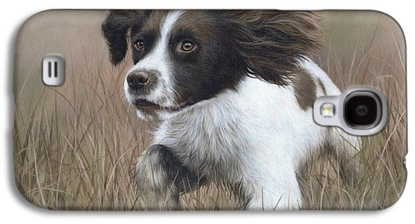 Springer Spaniel Painting Galaxy S4 Case by Rachel Stribbling