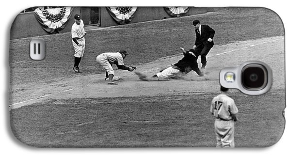 Spud Chandler Is Out At Third In The Second Game Of The 1941 Wor Galaxy S4 Case by Underwood Archives