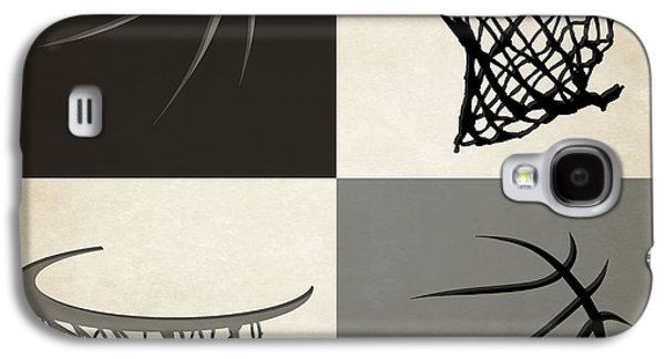 Spurs Ball And Hoop Galaxy S4 Case by Joe Hamilton