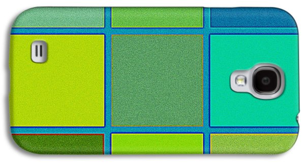 Squares - Green Galaxy S4 Case