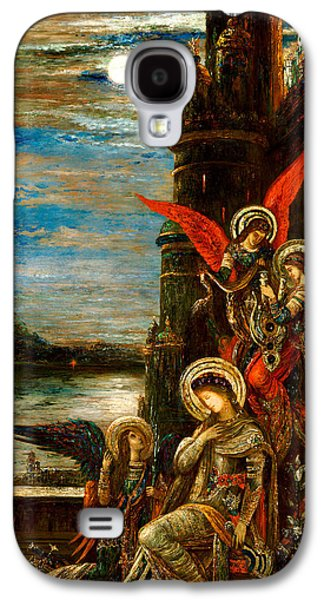 St Cecilia The Angels Announcing Her Coming Martyrdom Galaxy S4 Case by Gustave Moreau