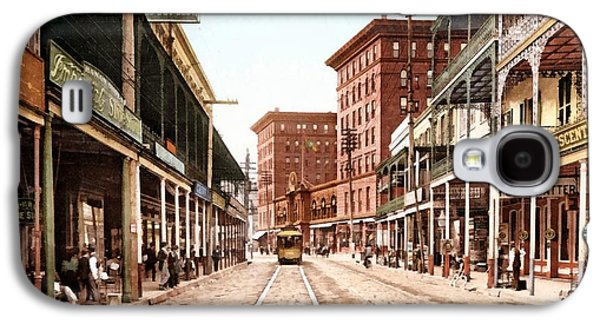 St Charles Street New Orleans 1900 Galaxy S4 Case by Unknown