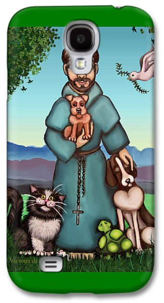 St. Francis Libertys Blessing Galaxy S4 Case by Victoria De Almeida