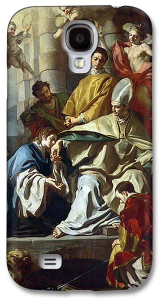 Saint Januarius Visited In Prison By Proculus And Sosius Galaxy S4 Case by Francesco Solimena