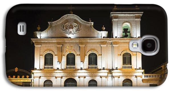 St Lazarus Church In Macau China Galaxy S4 Case by Jacek Malipan