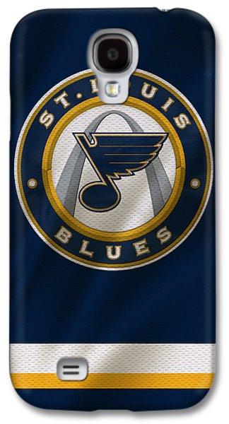 St Louis Blues Uniform Galaxy S4 Case by Joe Hamilton