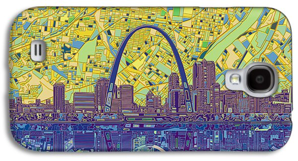 St Louis Skyline Abstract 10 Galaxy S4 Case