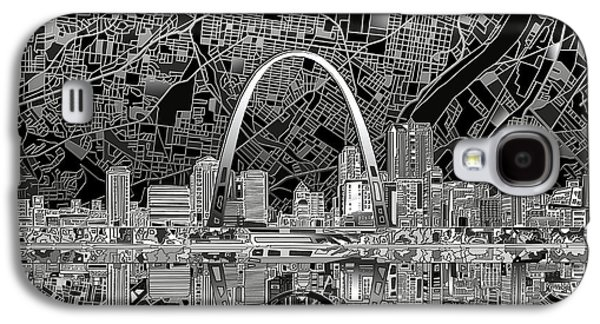 St Louis Skyline Abstract 2 Galaxy S4 Case