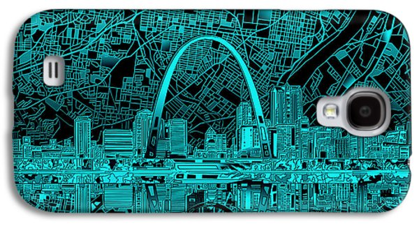 St Louis Skyline Abstract 4 Galaxy S4 Case