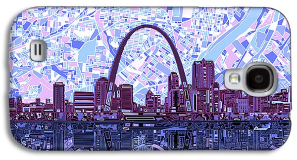 St Louis Skyline Abstract 8 Galaxy S4 Case