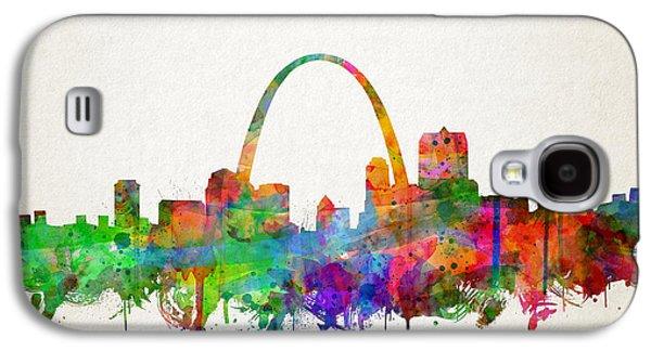 St Louis Skyline Watercolor 2 Galaxy S4 Case