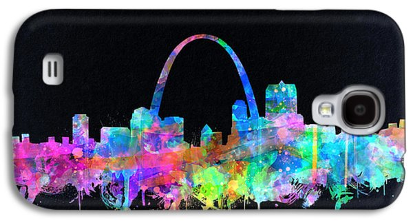 St Louis Skyline Watercolor 4 Galaxy S4 Case