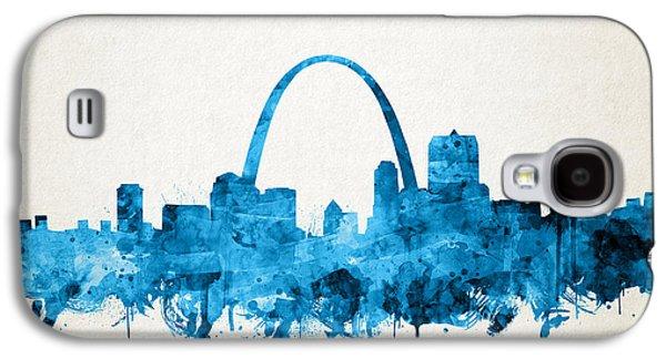 St Louis Skyline Watercolor Galaxy S4 Case