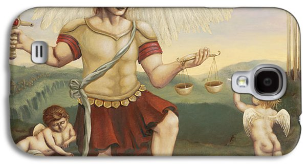 St. Michael The Archangel Galaxy S4 Case by Shelley Irish