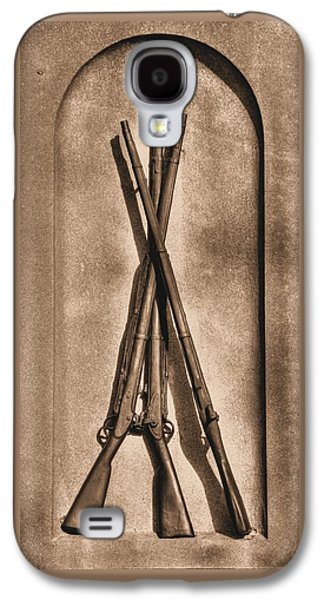 Stacked Musketry No. 1b - Monument To The 151st Pennsylvania Volunteer Infantry At Gettysburg Galaxy S4 Case by Michael Mazaika