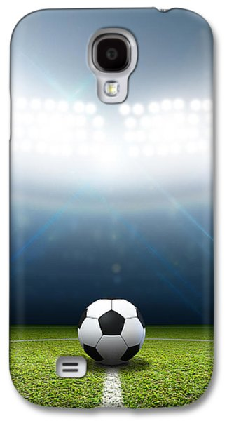 Stadium And Soccer Ball Galaxy S4 Case by Allan Swart