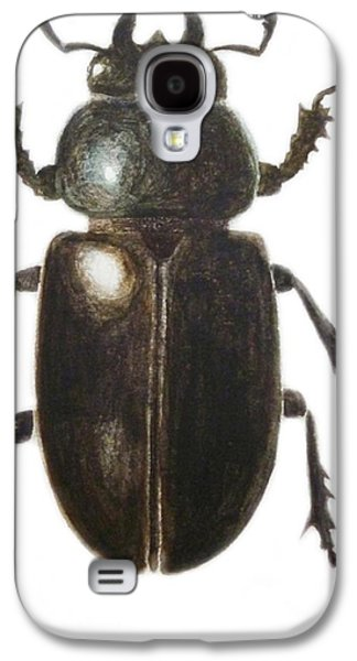 Stag Beetle Galaxy S4 Case by Ele Grafton