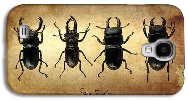 Stag Beetles Galaxy S4 Case by Mark Rogan