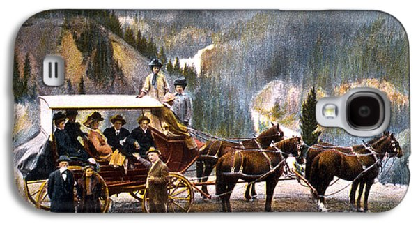 Stagecoach Near Upper Falls Galaxy S4 Case by NPS Photo Frank J Haynes
