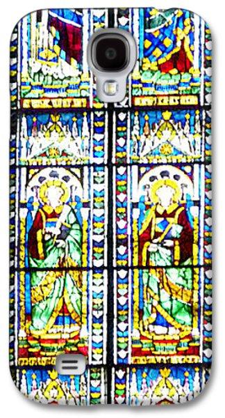 Stained Glass Window Of Duomo Santa Maria Del Fiore Galaxy S4 Case by Irina Sztukowski