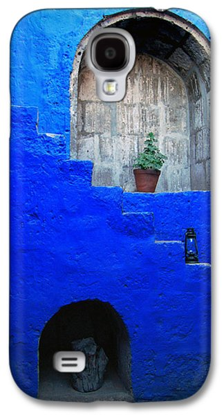 Staircase In Blue Courtyard Galaxy S4 Case