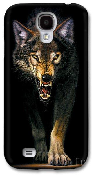 Portraits Galaxy S4 Case - Stalking Wolf by MGL Studio - Chris Hiett