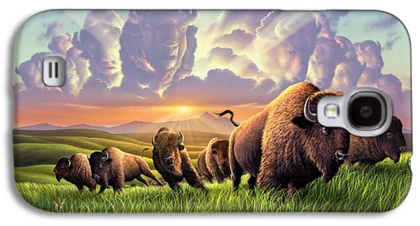 Stampede Galaxy S4 Case by Jerry LoFaro