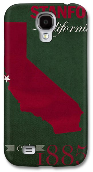 Stanford University Cardinal Stanford California College Town State Map Poster Series No 100 Galaxy S4 Case by Design Turnpike